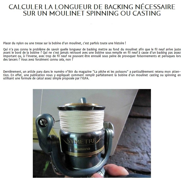 LA LONGUEUR DE  BACKING
