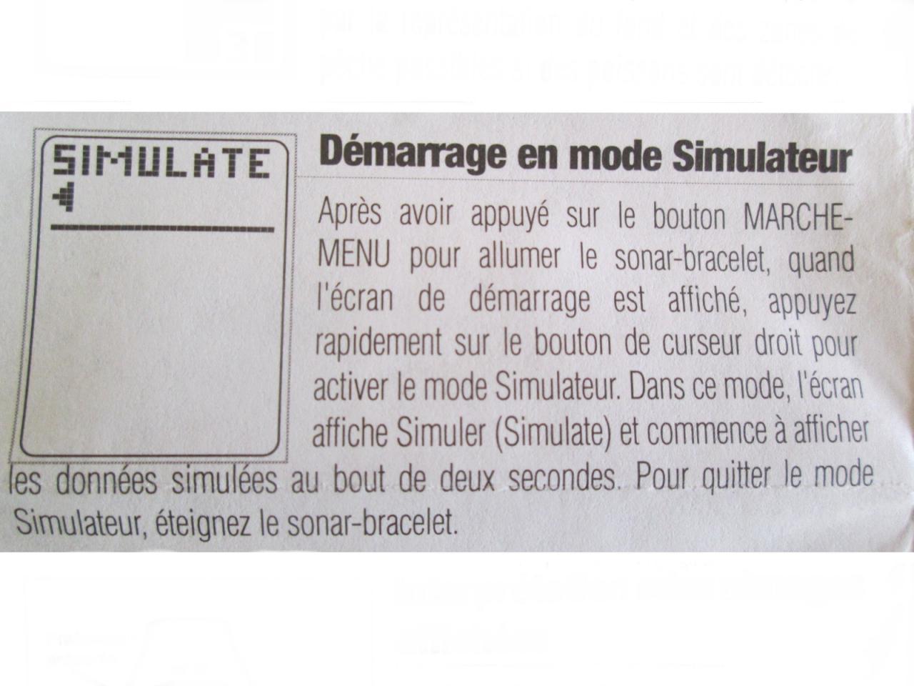Démarage mode simulateur