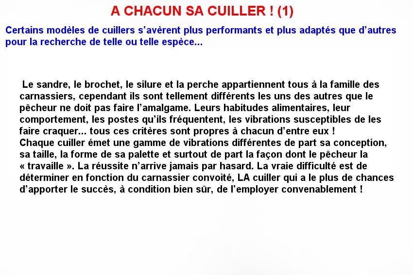 A CHACUN SA CUILLERE ! (1)