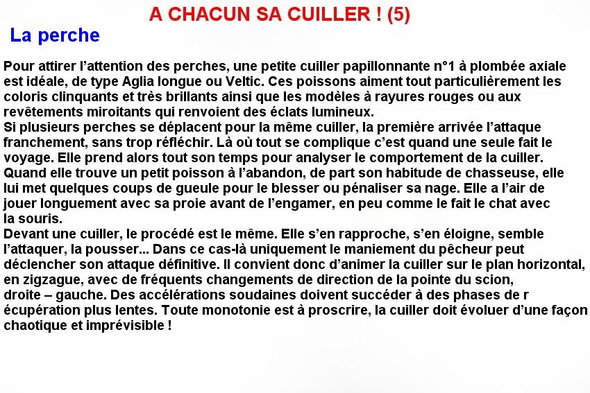 A CHACUN SA CUILLERE