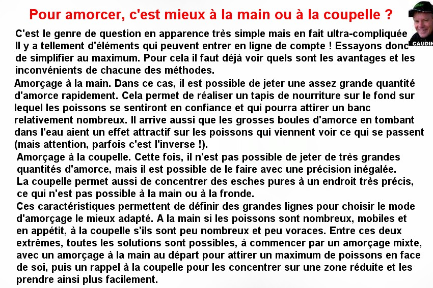 AMORCAGE A LA MAIN OU A LA COUPELLE (1)