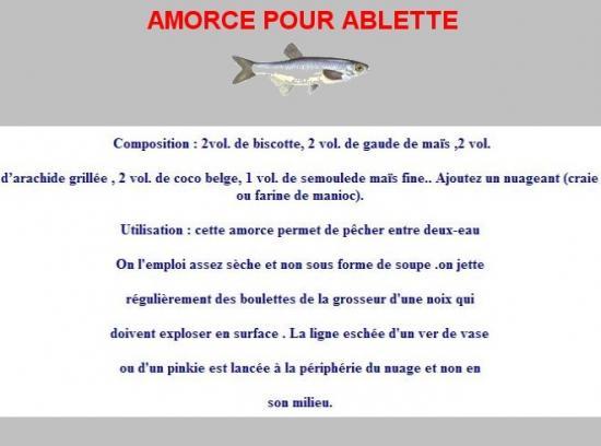 Amorce pour ablette for Amorce maison pour gardon