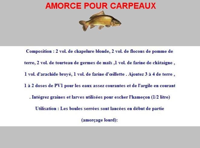 AMORCE POUR CARPEAUX