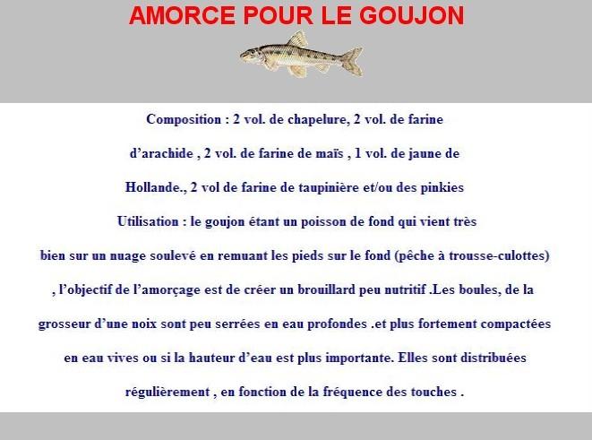 AMORCE POUR LE GOUJON