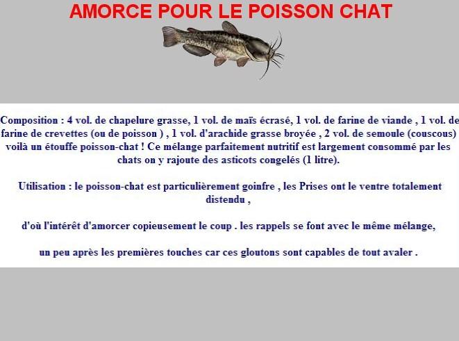 AMORCE POUR POISSON CHAT