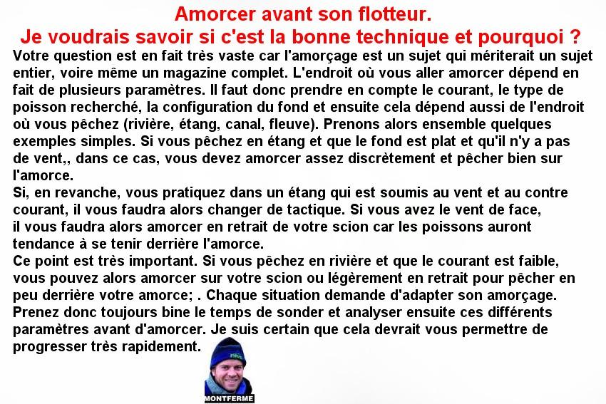 AMORCER DEVANT OU DERRIERE LE FLOTTEUR (3)