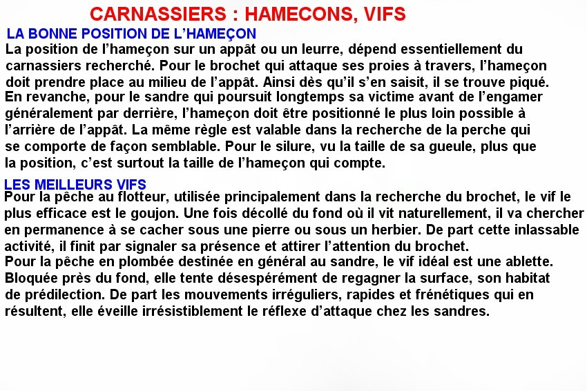 CARNASSIERS  HAMECONS, VIFS