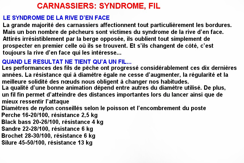 CARNASSIERS SYNDROME, FIL