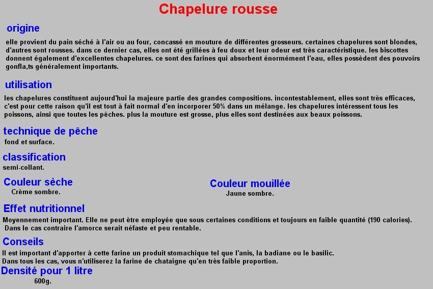 CHAPELURE ROUSSE 14