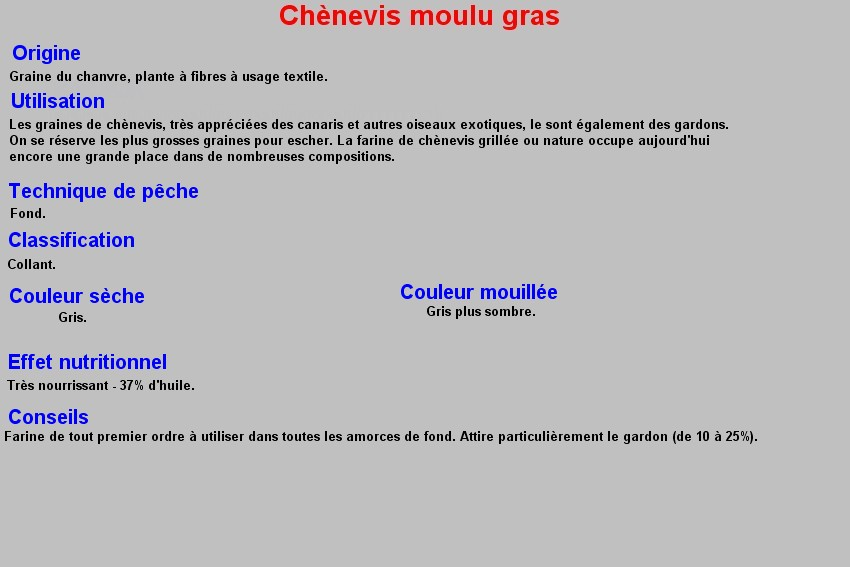 CHENEVIS MOULU GRAS 15