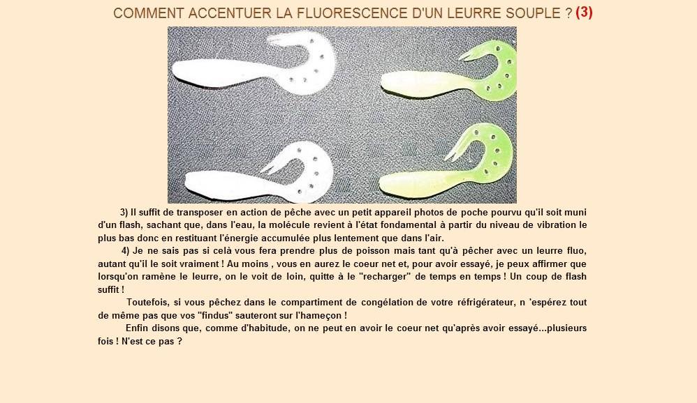 Comment accentuer la fluoresescence d'un leurre souple (3)