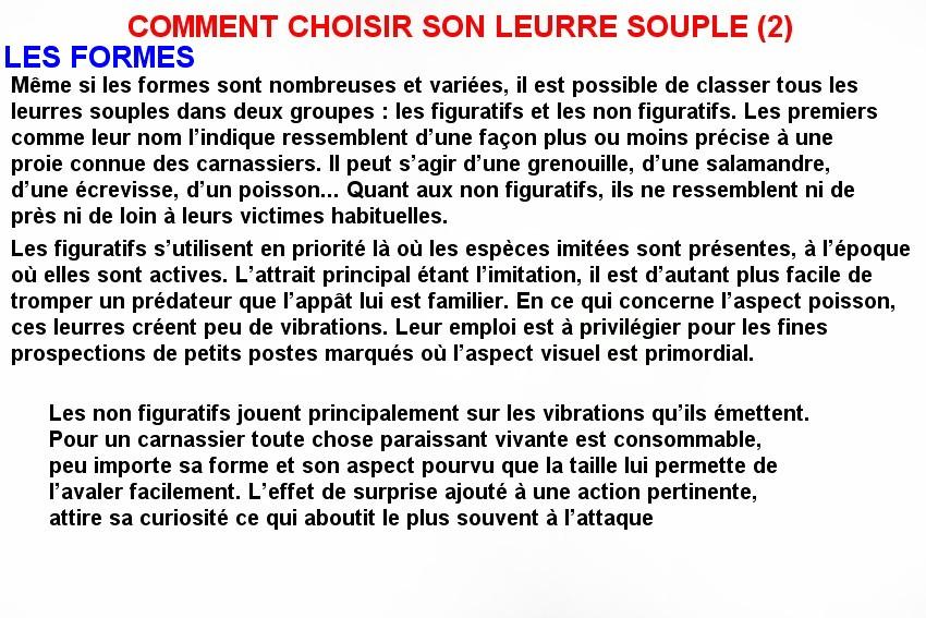 COMMENT CHOISIR SON LEURRE SOUPLE (2)