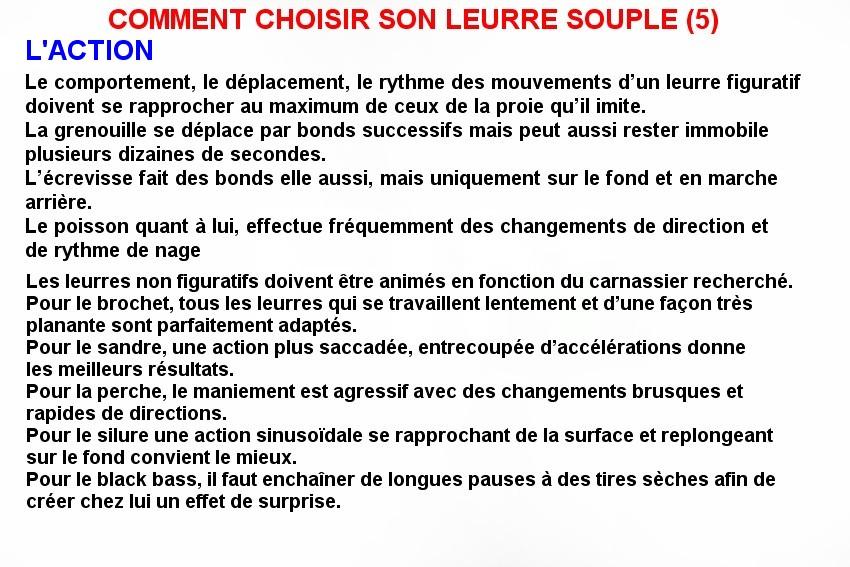 COMMENT CHOISIR SON LEURRE SOUPLE (5)