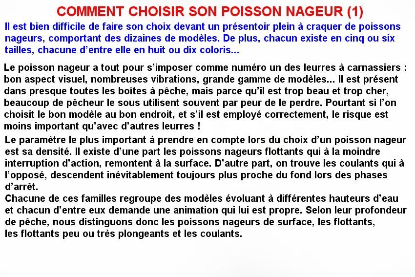COMMENT CHOISIR SON POISSON NAGEUR (1)