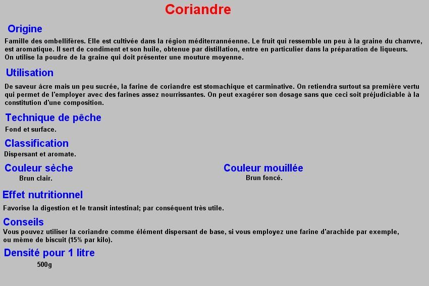 CORIANDRE 18
