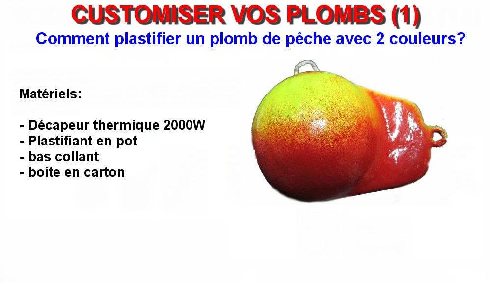CUSTOMISER VOS PLOMBS