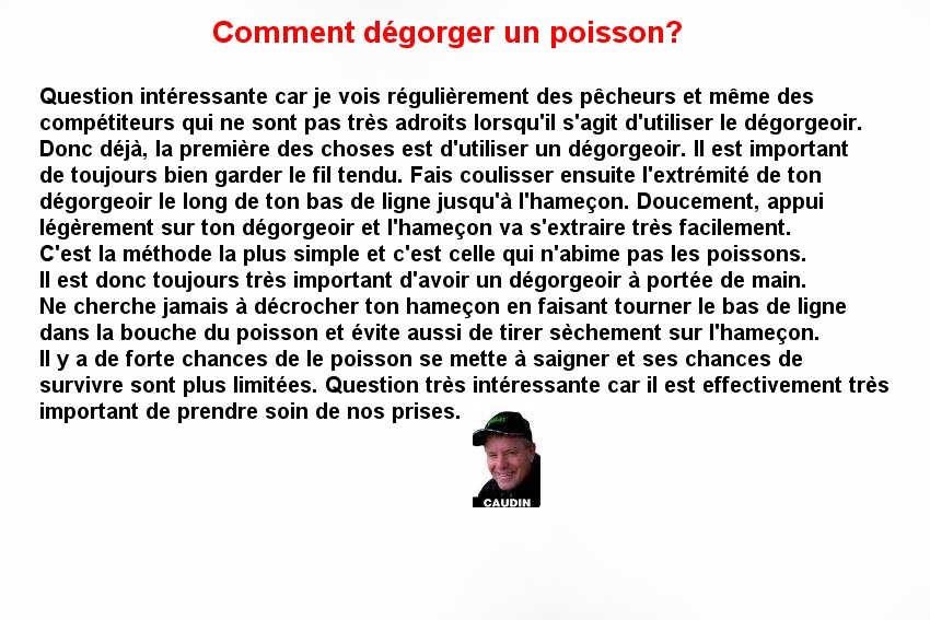 DEGORGER UN POISSON (4)