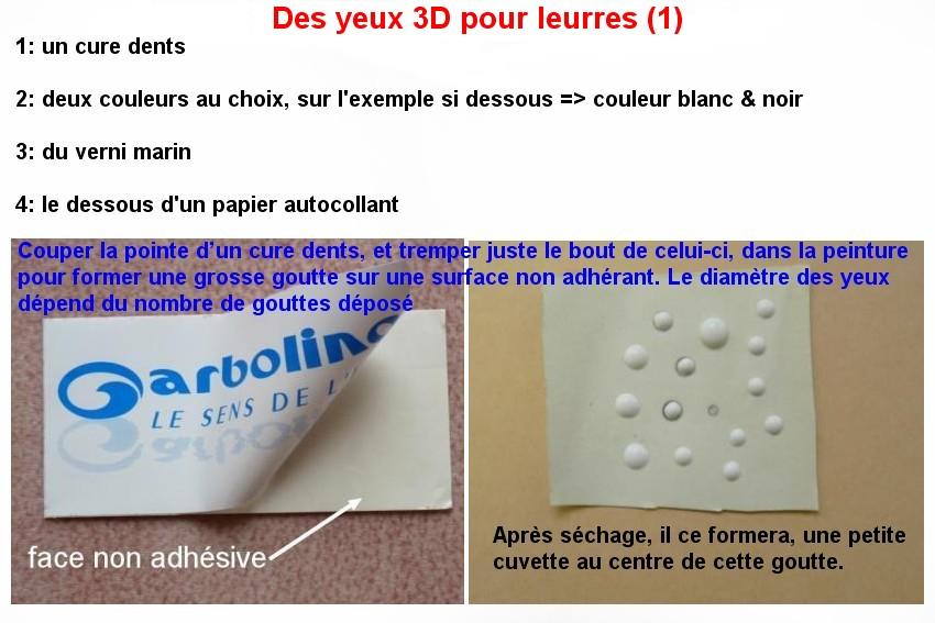 Des Yeux en 3D pour leurres (1)