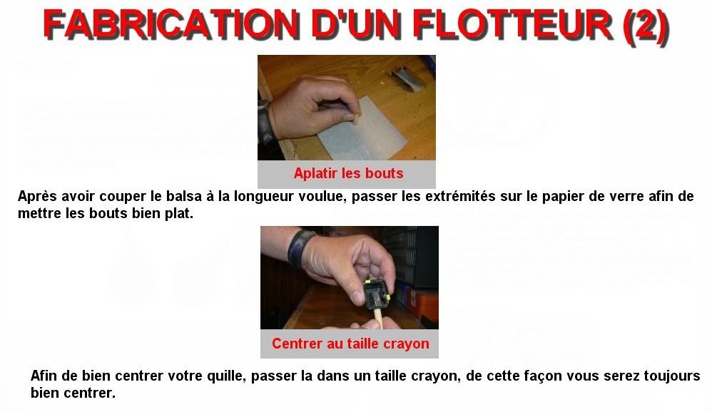 FABRICATION D'UN FLOTTEUR (2)