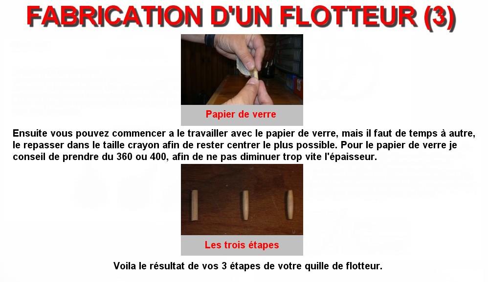FABRICATION D'UN FLOTTEUR (3)