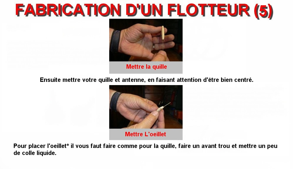 FABRICATION D'UN FLOTTEUR (5)