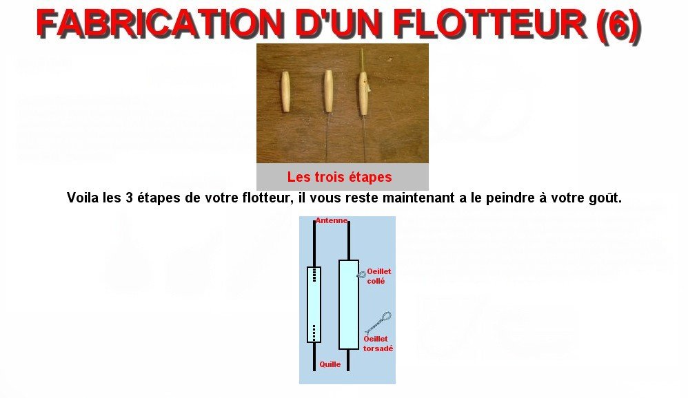 FABRICATION D'UN FLOTTEUR (6)