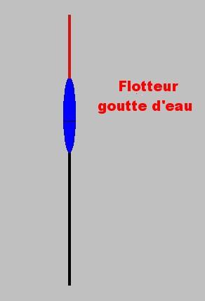FLOTTEUR FORME GOUTTE D'EAU