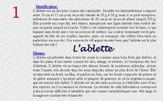 L'ABLETTE 1