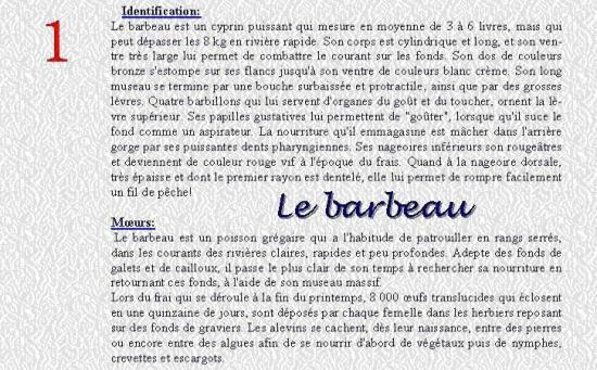 LE BARBEAU 1