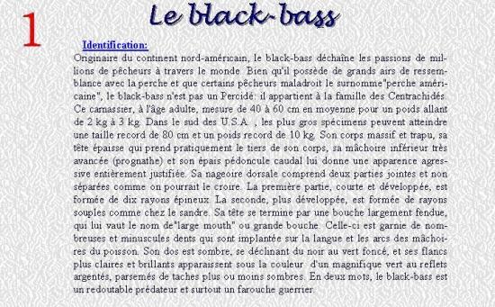 LE BLACK BASS 1