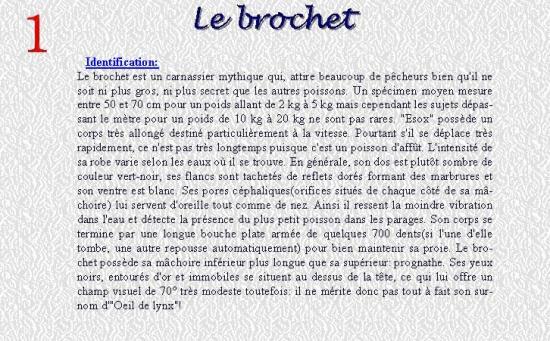 LE BROCHET 1
