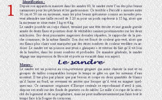 LE SANDRE 1