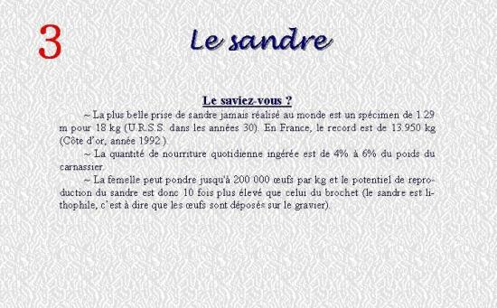 LE SANDRE 3