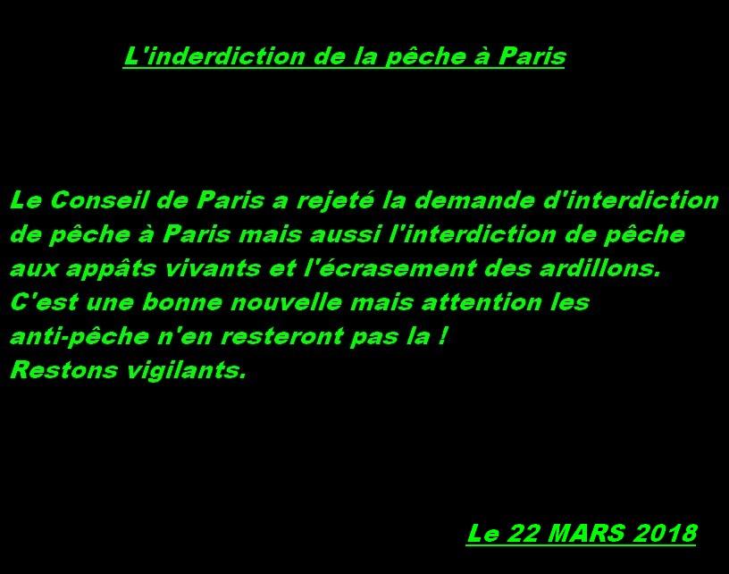 L'interdiction de la pêche à Paris
