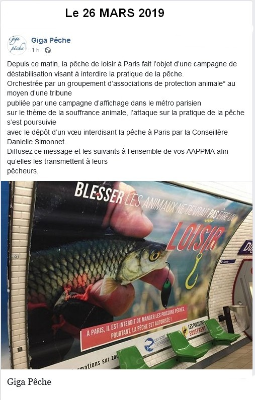 "L'interdiction de la pêche à Paris ""Ca recommence"" MARS 2019"