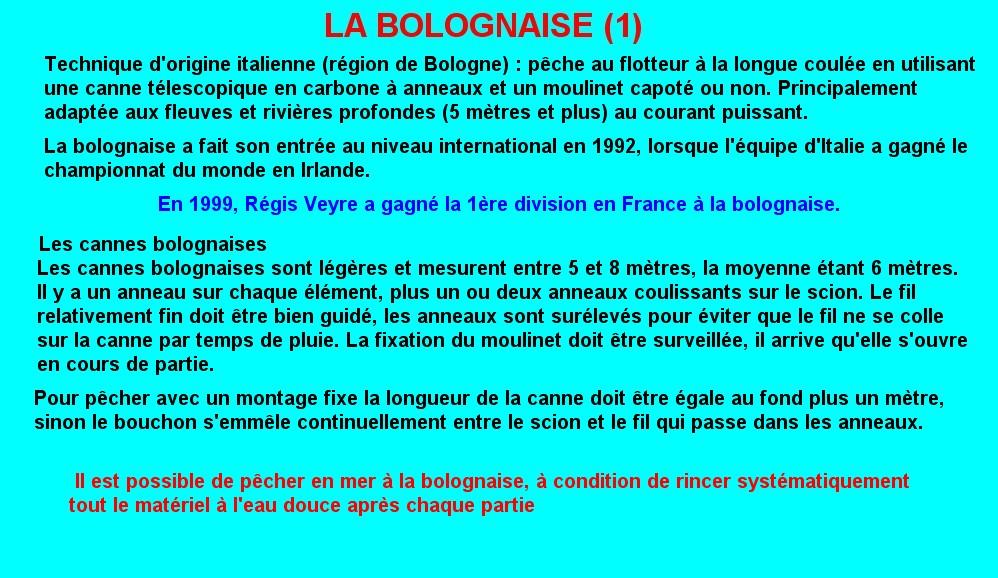 LA BOLOGNAISE (1)