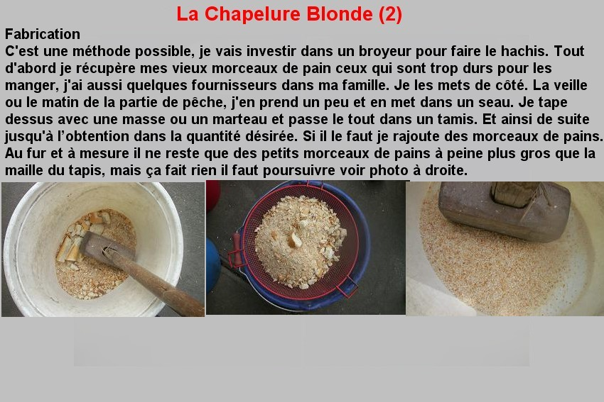 LA CHAPELURE BLONDE (2)