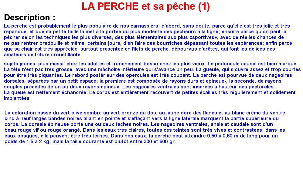 LA PERCHE ET SA PECHE (1)