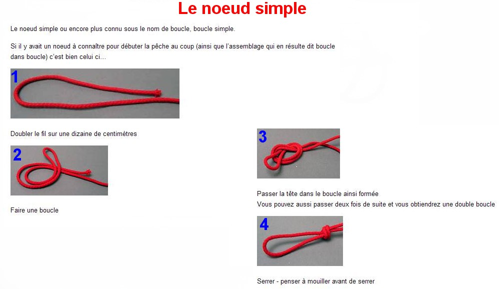 Le noeud simple
