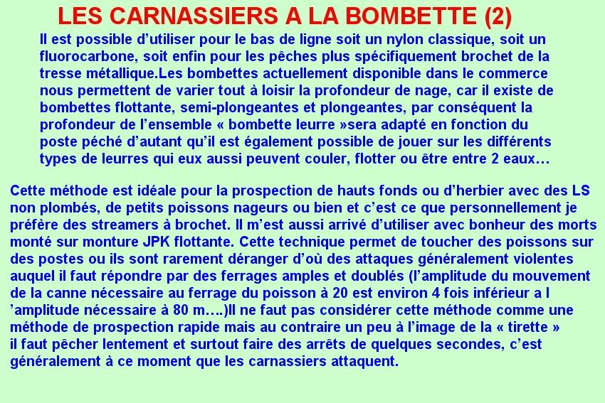 LES CARNASSIERS A LA BOMBETTE (2)