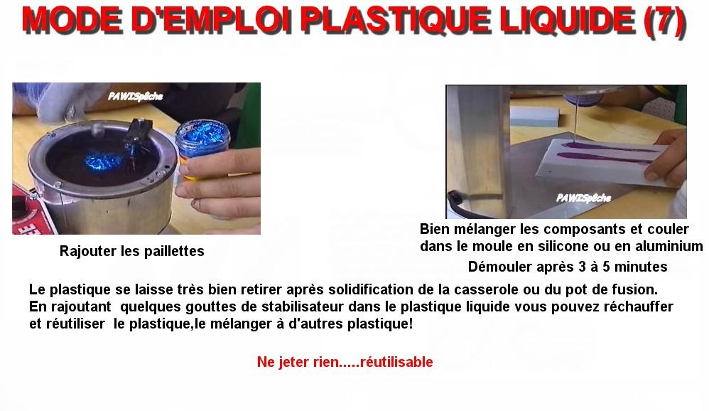 MODE D'EMPLOI PLASTIQUE LIQUIDE