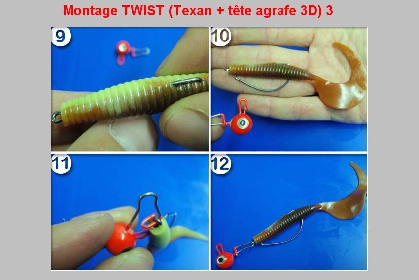 Montage TWIST (TEXAN + TETE AGRAFE 3D)  3