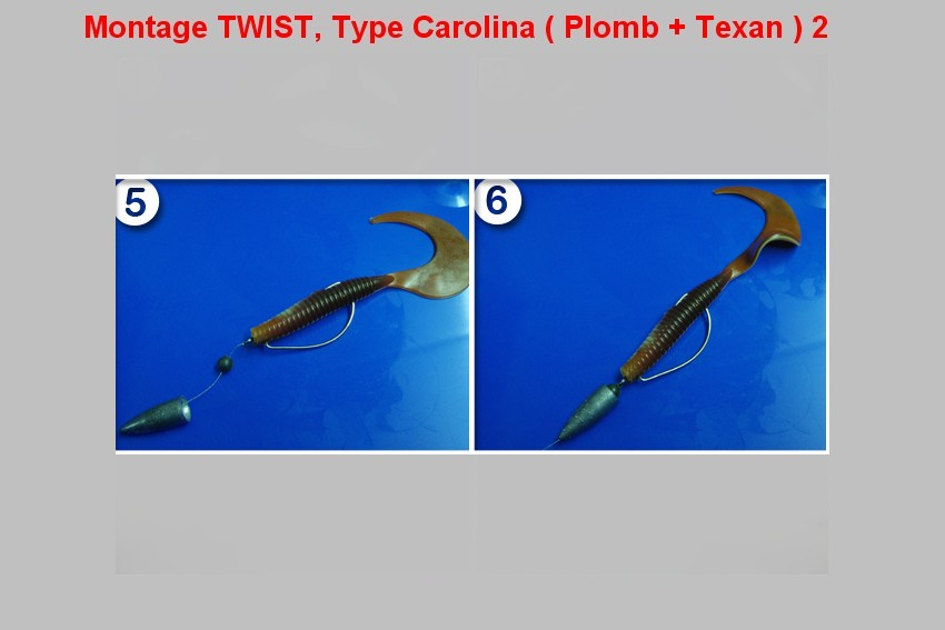 Montage TWIST, Type Carolina (PLOMB+TEXAN) 2