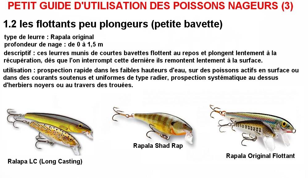 PETIT GUIDE D'UTILISATION DES POISSONS NAGEURS (3)