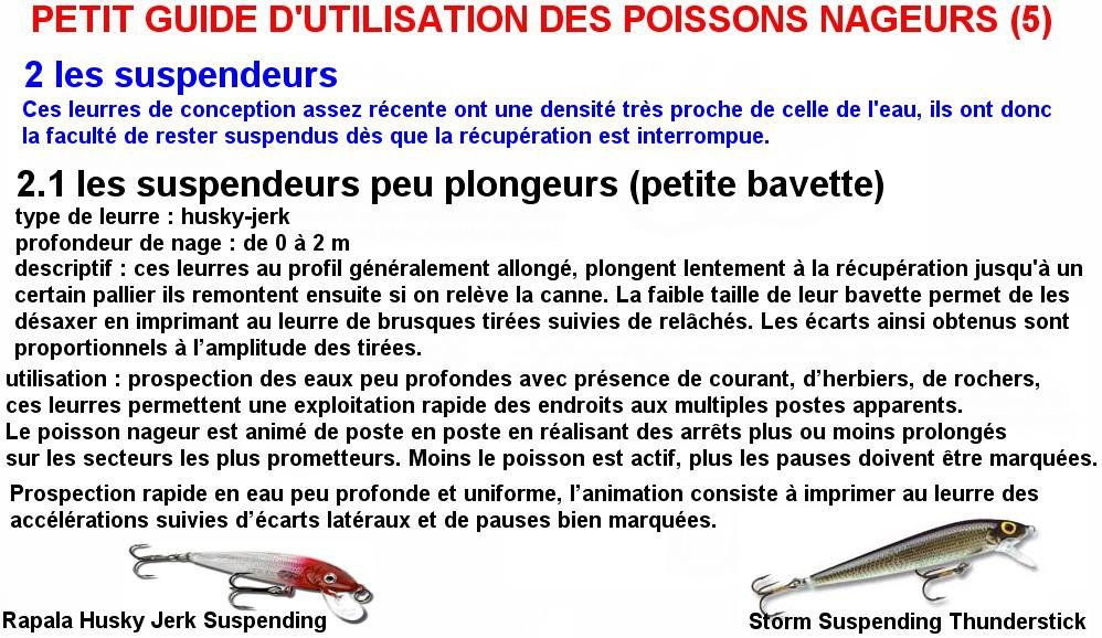 PETIT GUIDE D'UTILISATION DES POISSONS NAGEURS (5)
