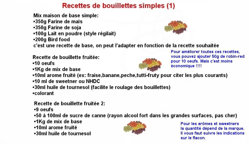 Recettes Bouillettes