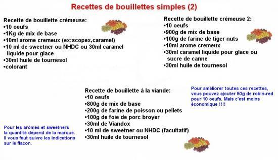 Recette bouillette 2 for Amorce maison pour carpe