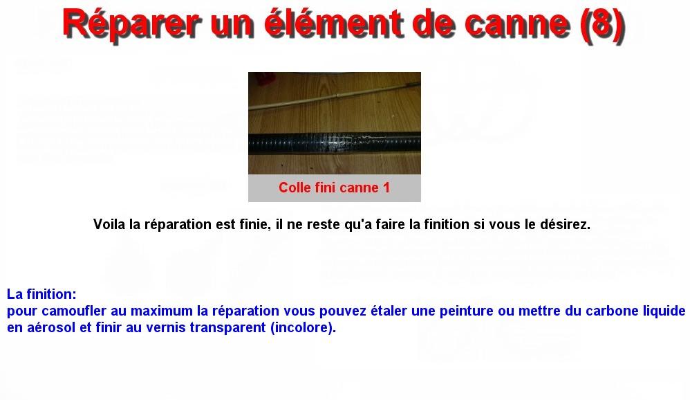 Réparer un élément de canne (8)