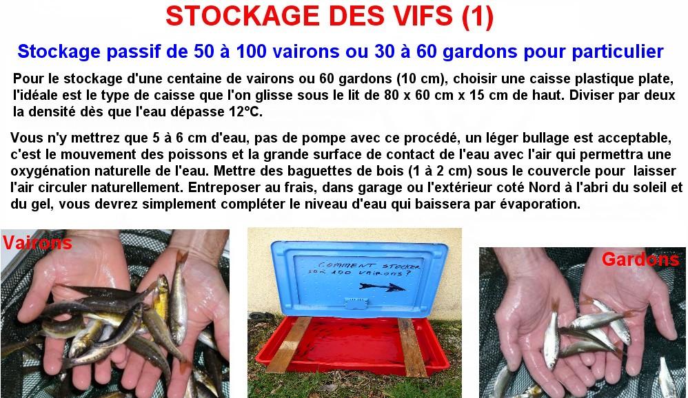 STOCKAGE DES VIFS