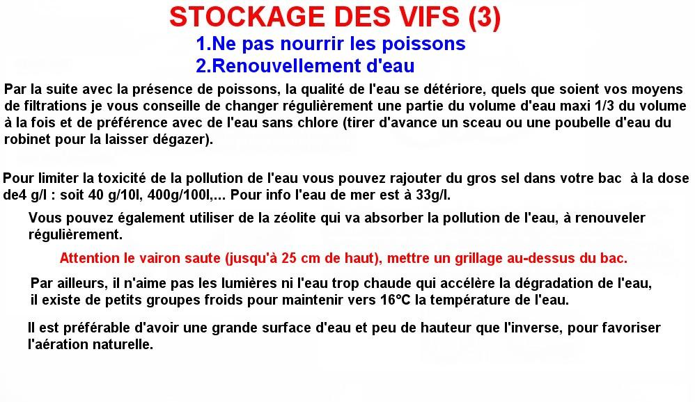 STOCKAGE DES VIFS (3)